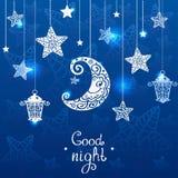 Azul da noite Imagem de Stock