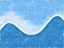 Azul da onda de Grunge Swoosh ilustração royalty free