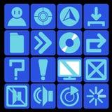 Azul da tecnologia do ícone Ilustração do Vetor