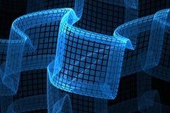 Azul da tira da onda do fundo Imagens de Stock Royalty Free