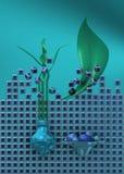 Azul da vida imóvel com flor Foto de Stock