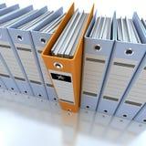 Azul de archivaje y de organización de la información Imágenes de archivo libres de regalías