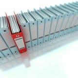 Azul de archivaje y de organización de la información Imagen de archivo libre de regalías