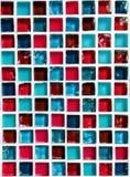 Azul de cerámica y rojo del mosaico Foto de archivo libre de regalías