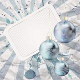 Azul de Christams de la vendimia Fotos de archivo libres de regalías