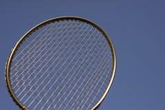 Azul de cielo de oro de la estafa del bádminton Fotos de archivo