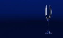 Azul de cristal de la invitación Imágenes de archivo libres de regalías