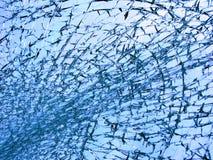 Azul de cristal quebrado Fotografía de archivo
