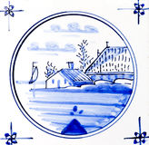 Azul de Delft imagen de archivo libre de regalías