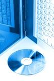 Azul de Digitaces Imagen de archivo libre de regalías