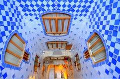 Azul de Gaudi - casa Batllo imagens de stock royalty free
