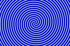 Azul de Hypno da ilusão ótica Fotografia de Stock Royalty Free