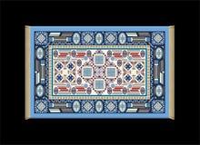 Azul de la alfombra stock de ilustración