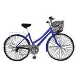 Azul de la bicicleta Imágenes de archivo libres de regalías