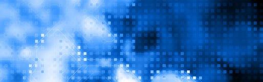Azul de la cabecera del Web de la tecnología Imagenes de archivo