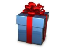 Azul de la caja de regalo Foto de archivo libre de regalías