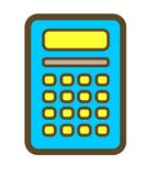 Azul de la calculadora. Imágenes de archivo libres de regalías