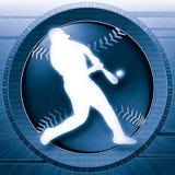 Azul de la ciencia del béisbol Fotografía de archivo libre de regalías