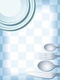 Azul de la configuración de lugar libre illustration