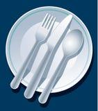 Azul de la configuración de lugar Imagen de archivo libre de regalías