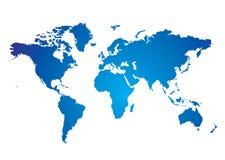 Azul de la correspondencia de mundo ilustración del vector