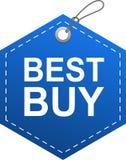 Azul de la etiqueta de la etiqueta de Best Buy stock de ilustración