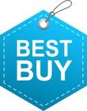 Azul de la etiqueta de la etiqueta de Best Buy ilustración del vector