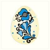 Azul de la flor del huevo Imagen de archivo libre de regalías