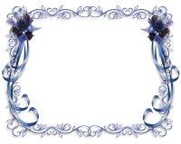 Azul de la frontera de la Navidad stock de ilustración