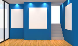 Azul de la galería Imágenes de archivo libres de regalías