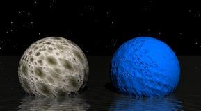 Azul de la luna ilustración del vector