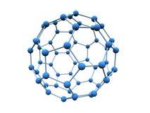 Azul de la molécula Fotografía de archivo libre de regalías