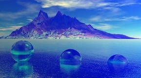 Azul de la montaña ilustración del vector