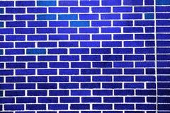 Azul de la pared de ladrillo Imagen de archivo
