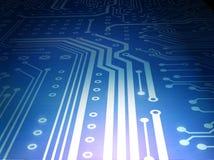 Azul de la placa de circuito Fotos de archivo libres de regalías