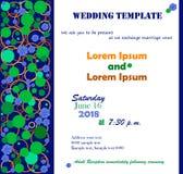 Azul de la plantilla de la boda Imagenes de archivo