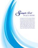 Azul de la plantilla de la cubierta ilustración del vector