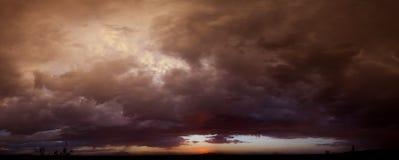 Azul de la puesta del sol Foto de archivo libre de regalías