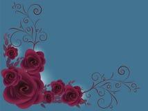 Azul de la tarjeta del día de San Valentín Stock de ilustración