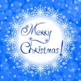 Azul de la tarjeta de Navidad Fotografía de archivo