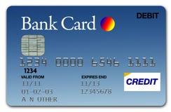 Azul de la tarjeta Visa Fotografía de archivo libre de regalías