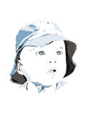 Azul de Little Boy Fotos de archivo libres de regalías