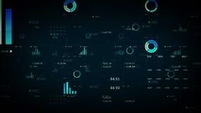 Azul de los gráficos y de los datos de negocio ilustración del vector