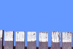 Azul de madeira da ponte Fotos de Stock Royalty Free