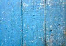 Azul de madeira do fundo A parede pintada velha foto de stock