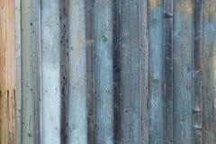 Azul de madeira resistido velho Textured e placas cinzentas fotos de stock royalty free