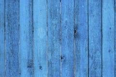 Azul de madera de la cerca Imagen de archivo libre de regalías