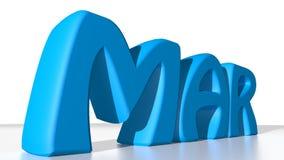 Azul de marzo Imagen de archivo