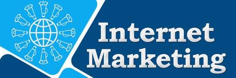 Azul de mercado do Internet Imagem de Stock Royalty Free