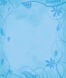 Azul de papel mottled floral Fotos de Stock